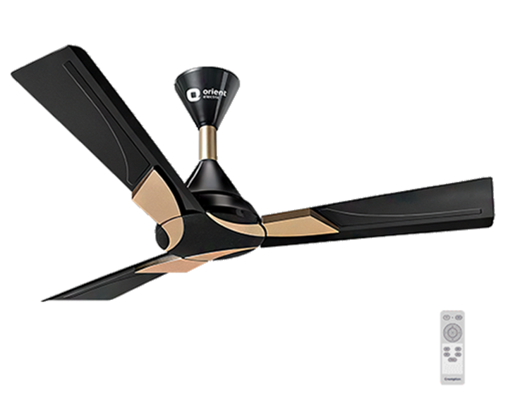 Ceiling Fan Wendy Metallic Black Gold